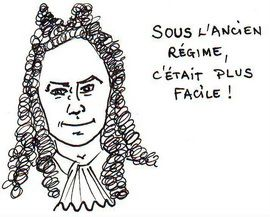 Dessin satirique de Louis 14